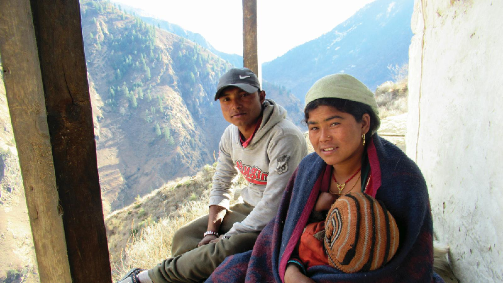 Pabitra and her husband. With the training from Mission East they are now able to give their children more and healthier food. Photo: Nirmal Bista, HEAD Nepal
